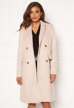 Y.A.S Essa Wool Coat Whisper Pink Bubbleroom.no