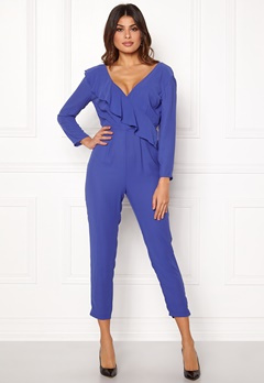 Y.A.S Estrella LS Jumpsuit Royal Blue Bubbleroom.no