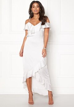 Y.A.S Fielle Off Shoulder Dress Star White Bubbleroom.no