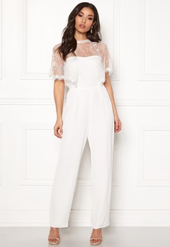 Y.A.S Flower Cape Jumpsuit Star White Bubbleroom.no