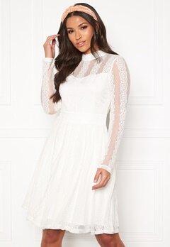 Y.A.S Helena LS Dress Star White Bubbleroom.no