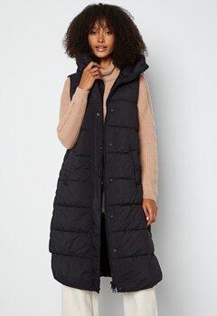 Y.A.S Lira Padded Vest Black bubbleroom.no