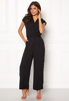 Y.A.S Mamba S/S Jumpsuit Black Bubbleroom.no