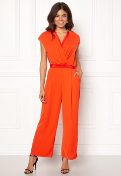 Y.A.S Mamba S/S Jumpsuit Orange.com Bubbleroom.no