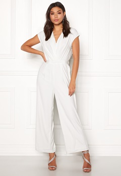 Y.A.S Mamba S/S Jumpsuit Star White Bubbleroom.no