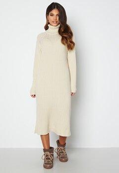 Y.A.S Mavi LS Knit Dress Eggnog bubbleroom.no