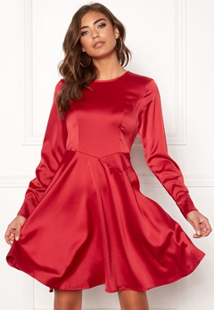 Y.A.S Meo LS Dress Haute Red Bubbleroom.no