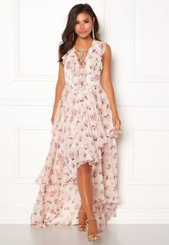 Y.A.S Most S/L Maxi Dress Star White Bubbleroom.no