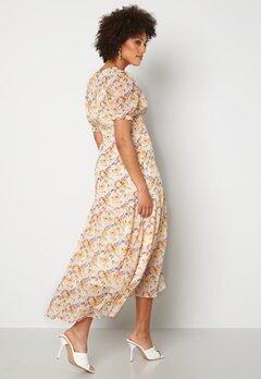 Y.A.S Nilima 2/4 Wrap Ankle Dress Eggnog Floral AOP Bubbleroom.no