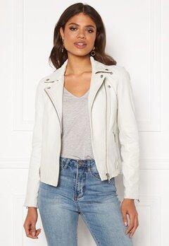 Y.A.S Philippa Biker Jacket Star White Bubbleroom.no