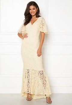 Y.A.S Radic Lace Maxi Dress Antique White Bubbleroom.no