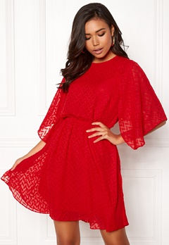 Y.A.S Scarlet SS Dress Flame Scarlet Bubbleroom.no