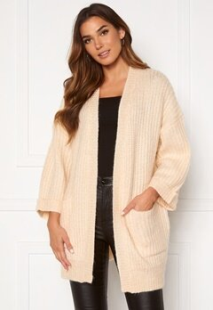 Y.A.S Sunday 3/4 Knit Cardigan Whisper Pink Bubbleroom.no