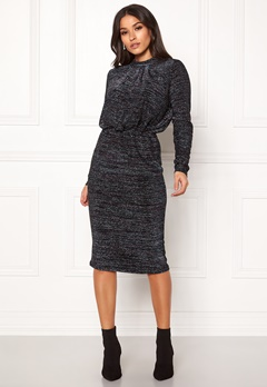 Y.A.S Yenna Lurex L/S Dress Black Bubbleroom.no