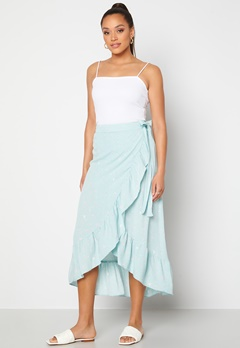 Y.A.S Yvonne HW Long Wrap Skirt Star White Yvonne Pr Bubbleroom.no