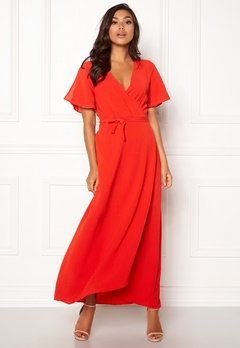 ICHI Zarun Dress 16254 Aurora Red Bubbleroom.no