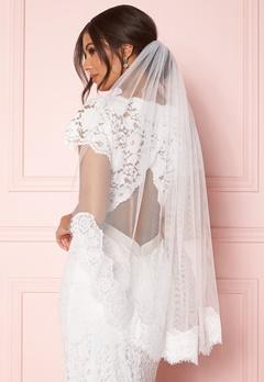 Zetterberg Couture Nour Veil Short 90 cm Ivory Bubbleroom.no
