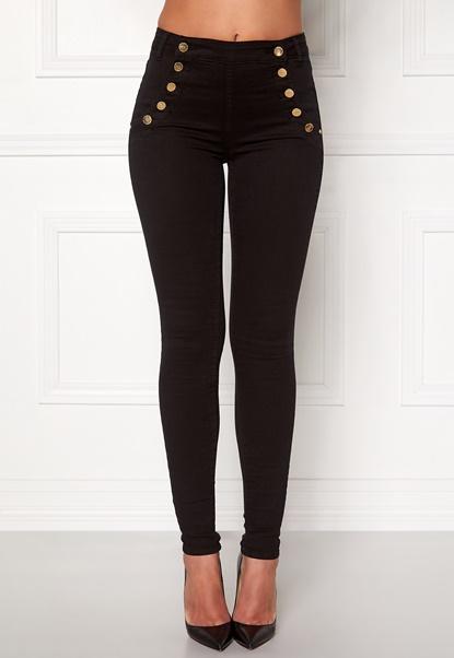 77thFLEA Adina highwaist jeans Black Bubbleroom.no