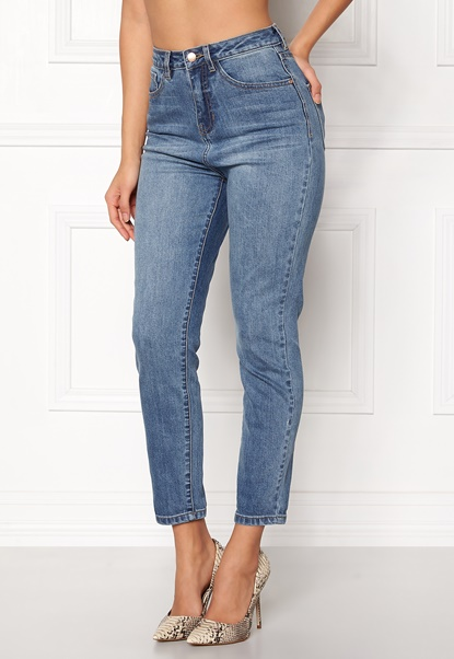 77thFLEA Felice high waist jeans Medium blue Bubbleroom.no