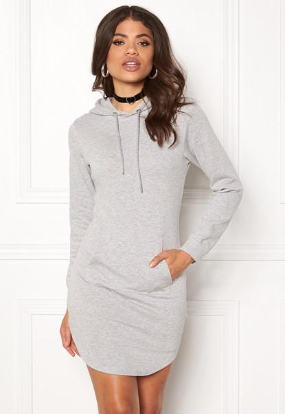 77thFLEA Rhianna Sweat Dress Grey melange Bubbleroom.no