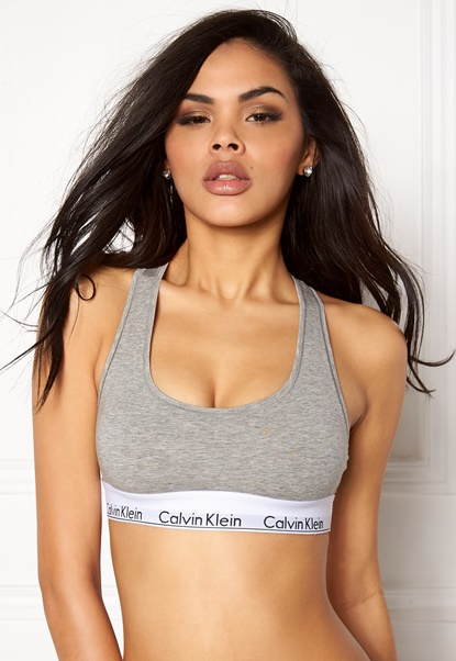 Calvin Klein CK Cotton Bralette 020 Grey Heather Bubbleroom.no