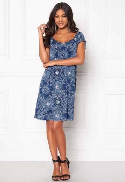 Happy Holly Tessan dress Medium blue / Paisley Bubbleroom.no