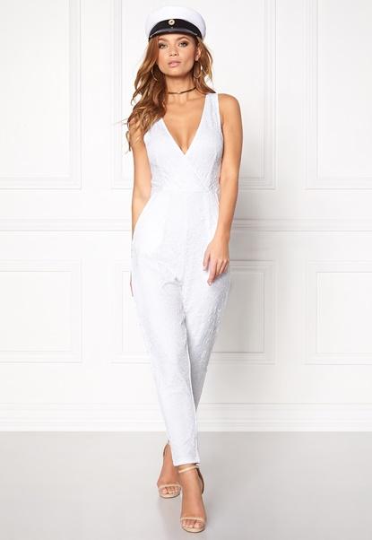 Make Way Adelaide Jumpsuit White Bubbleroom.no