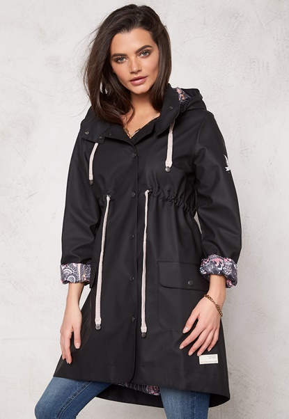 Odd Molly Monsoon Rainjacket Black Bubbleroom.no