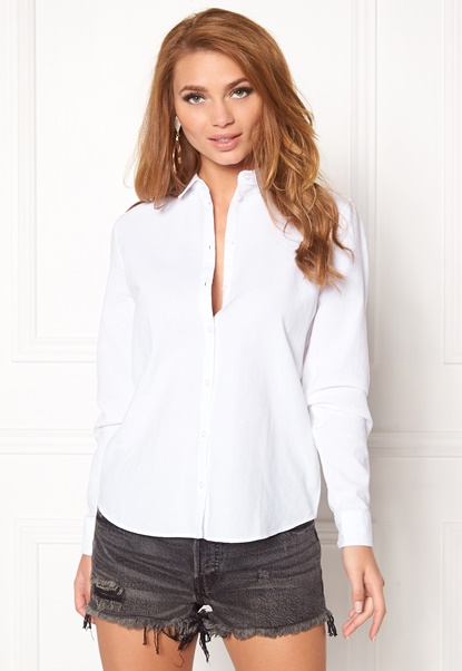 Pieces Katia Shirt Bright White Bubbleroom.no