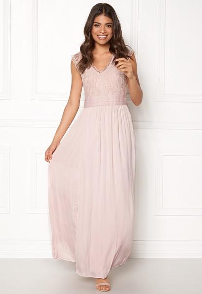 VILA Ponny Maxi Dress Peach Whip Bubbleroom.no