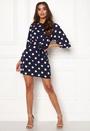 Polka Dot Tie Front Dress