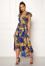 Printed Cap Maxi Dress