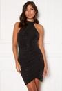 Sparkle Rouch Wrap Mini Dress