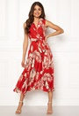 Palm Print Midi Dress