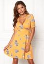 Mirella wrap ruffle dress