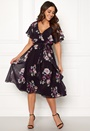 Floral Flutter Midi Dress