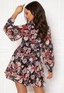 Maya Cuffed Sleeve Mini Dress