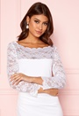 3/4 Lace Trim Maxi Dress