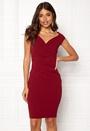 Bardot Pleat Midi Dress