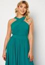 Cross Front Chiffon Maxi Dress
