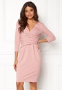 Fitted Pleated Midi Dress