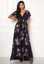 Floral Sleeve Maxi Dress