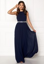 Halterneck Chiffon Maxi Dress