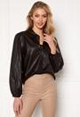 London L/S Faux Leather Shirt