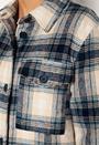 Long Check Shirt Jacket
