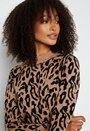Thess L/S jaquard knit dress