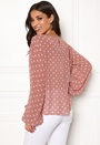 Dot Sleeve Open Blouse