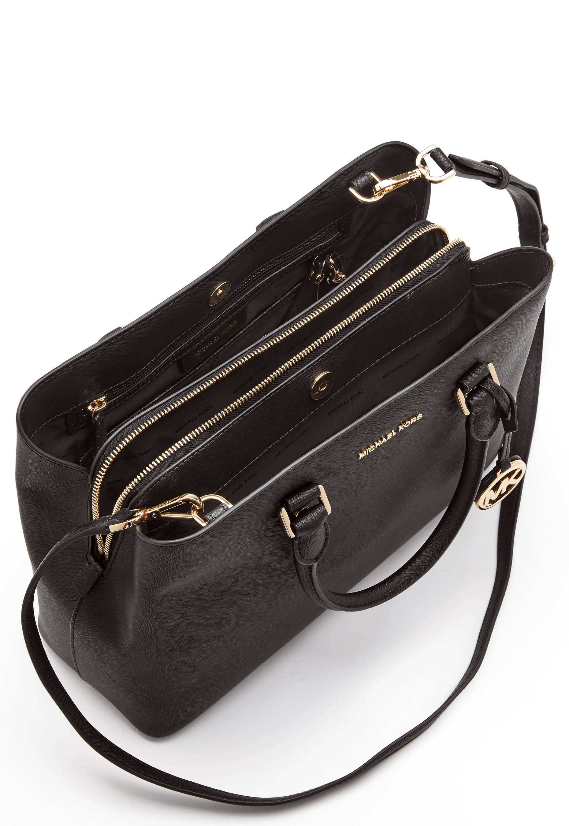 Michael Michael Kors Savannah LG Satchel Bag 001 Black