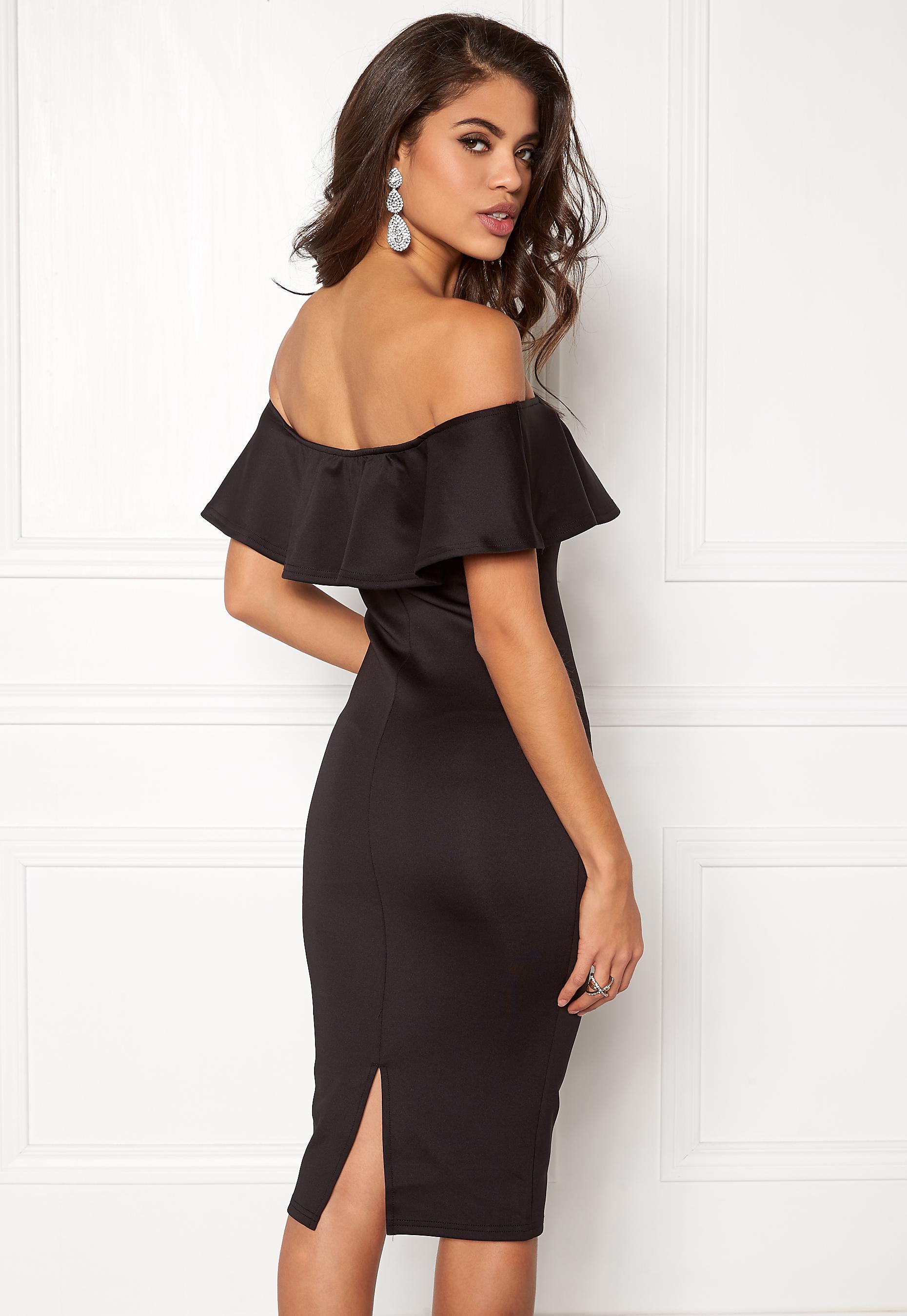 4fa20572 AX Paris Off the Shoulder Dress Black - Bubbleroom