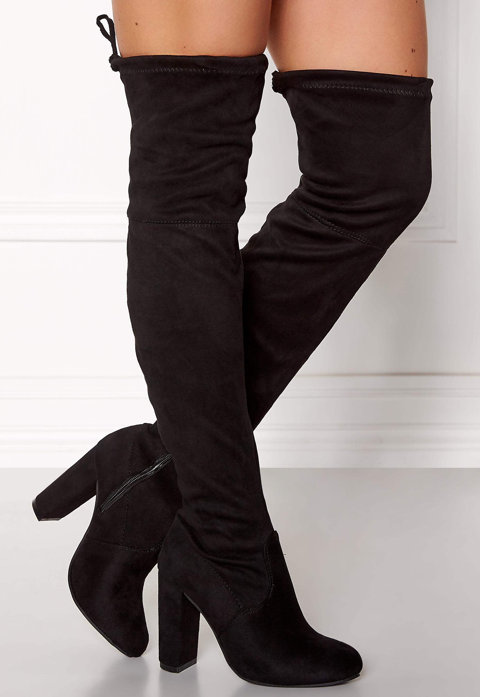15fa6f1c AX Paris Overknee Boots Black - Bubbleroom